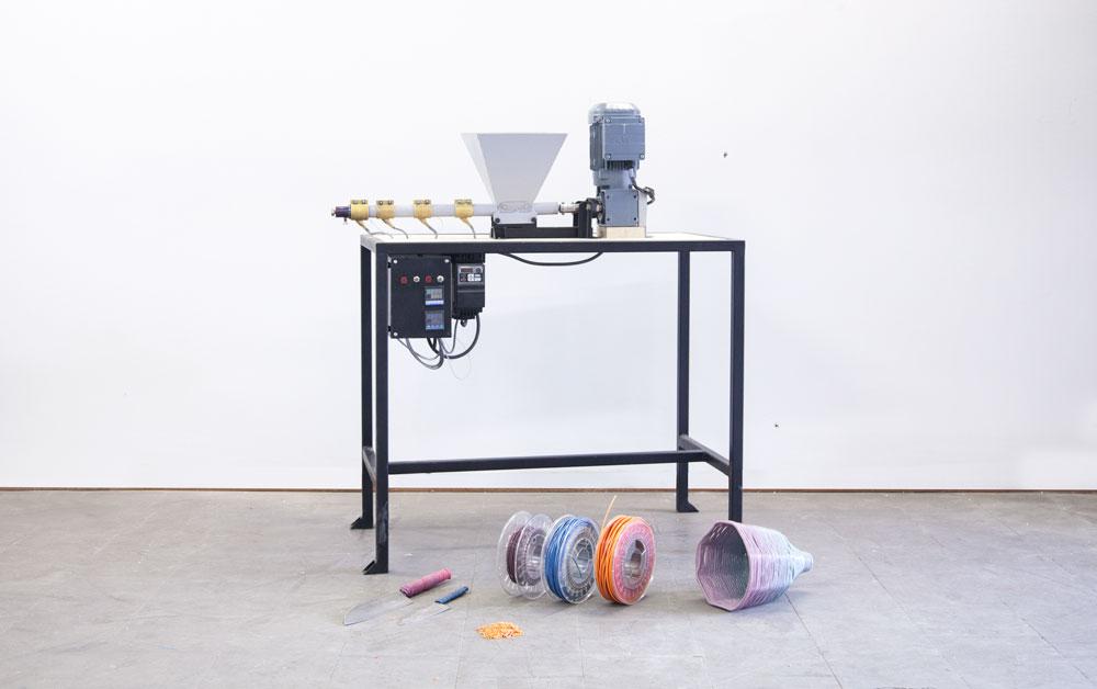 Extrusion maquina reciclado plástico