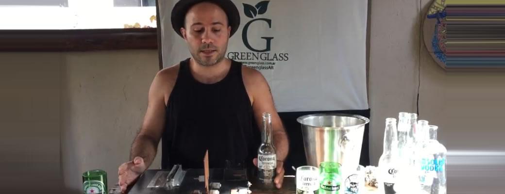 Curso para cortar botellas de vidrio