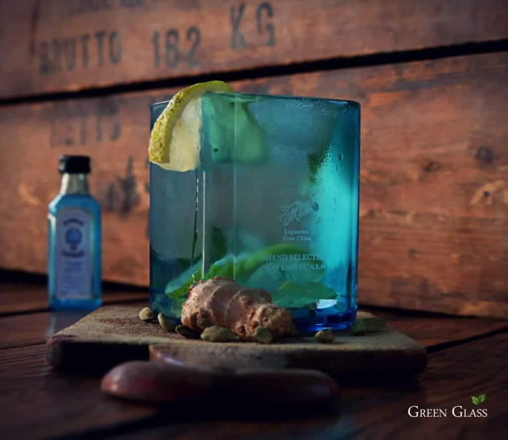 Vaso premium Bombay Sapphire Green Glass Argentina