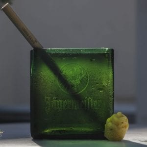 Vaso de Jagermeister Green Glass