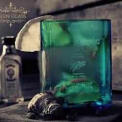Vaso Bombay Sapphire Green Glass