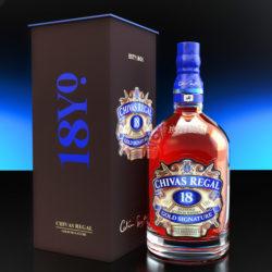 Botella de whisky Chivas Regal 18 años